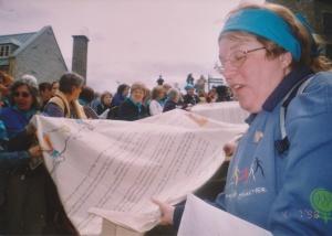 Louise Miller, militante à La Marche mondiale de 1995